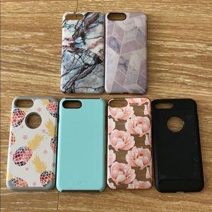 Set of 6 iPhone 7 Plus Cases